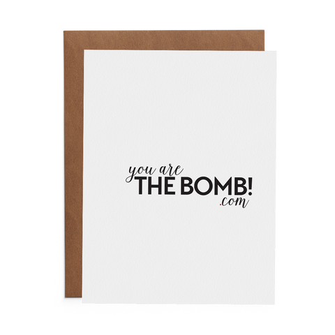 You Are the Bomb.com - Lost Art Stationery