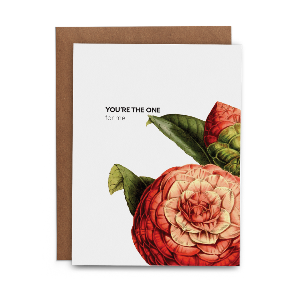 You're the One for Me Love Valentine's Day Greeting Card