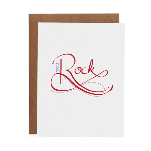 You Rock - Lost Art Stationery