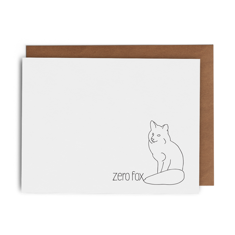 Zero Fox - Lost Art Stationery