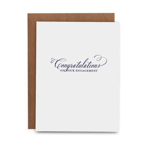 Congratulations on Your Engagement - Lost Art Stationery