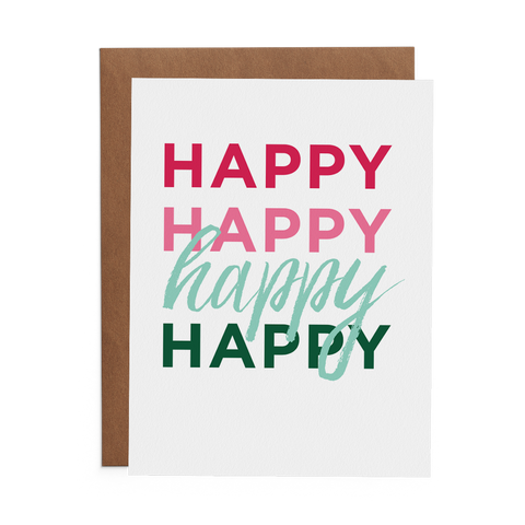 Happy Happy Happy - Lost Art Stationery