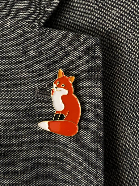 Red Fox Soft Enamel Pin - Lost Art Stationery