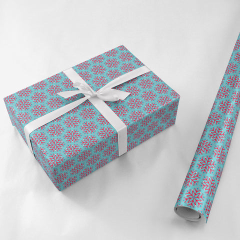 Snowflake Gift Wrap - Lost Art Stationery