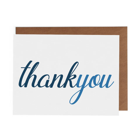 Thank You - Blue Script