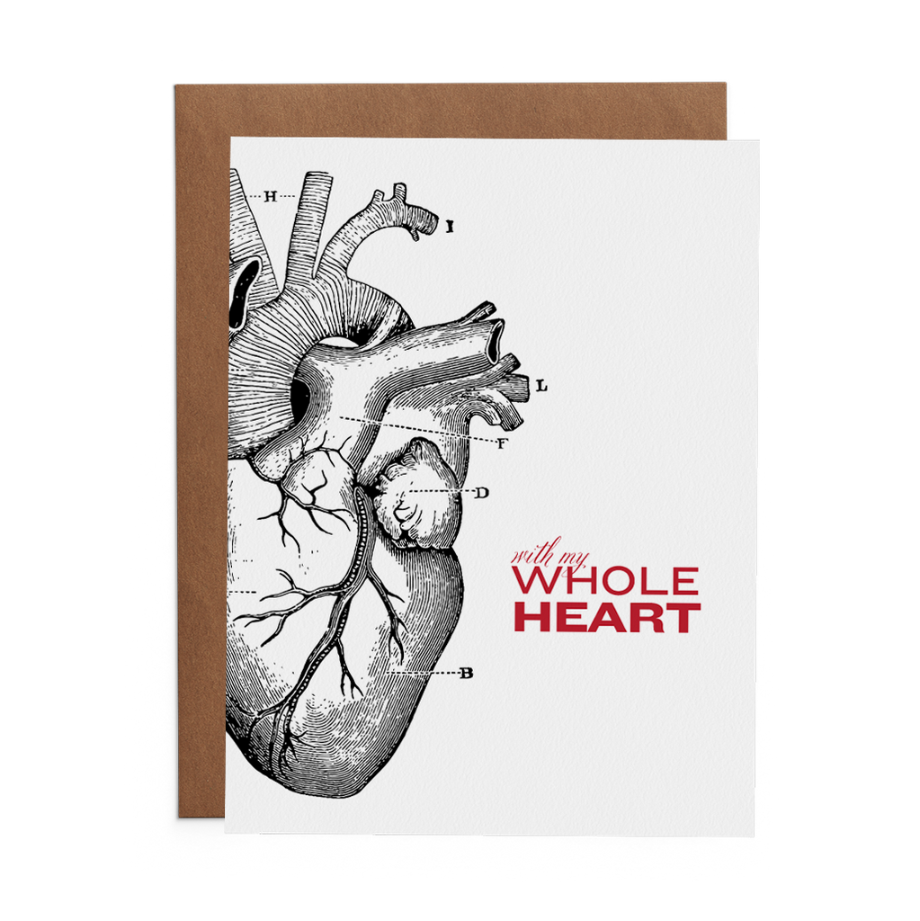 With My Whole Heart - Lost Art Stationery
