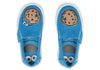Sesame Street Cookie Monster Face Tiny Luca Slip-ons Shoes