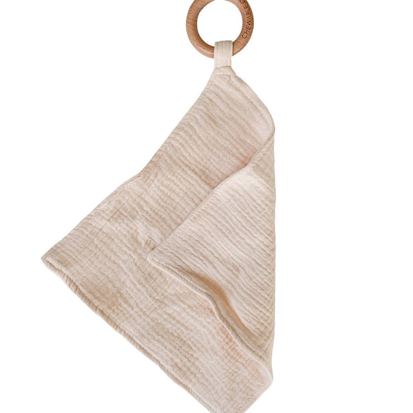 Muslin Teething Ring in Cloud by Chewable Charm
