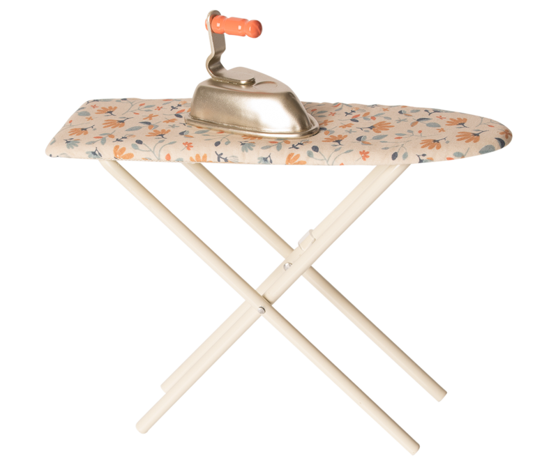 Iron & Ironing Board with Bright Floral Cover by Maileg