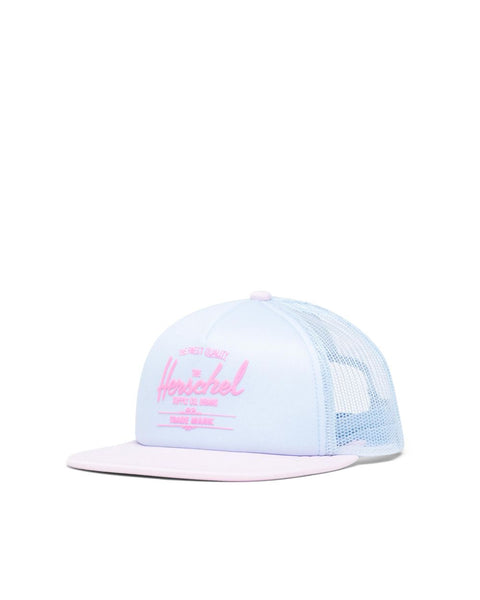 Whaler Cap Mesh Soft Brim Youth in Ballad Blue Pastel and Rosewater Pastel by Herschel
