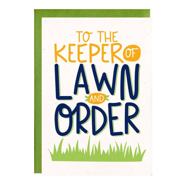 Lawn and Order Card by Little Lovelies Studio