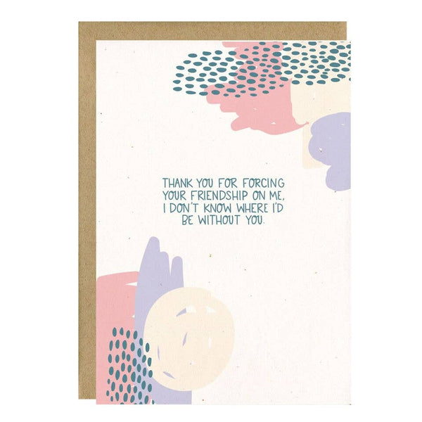 Forcing Your Friendship Card by Little Lovelies Studio