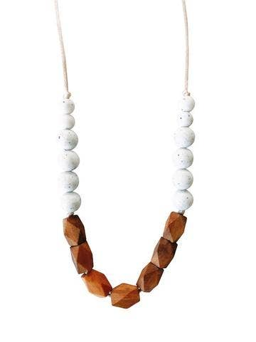 The Harrison Teething Necklace in Moonstone by Chewable Charm