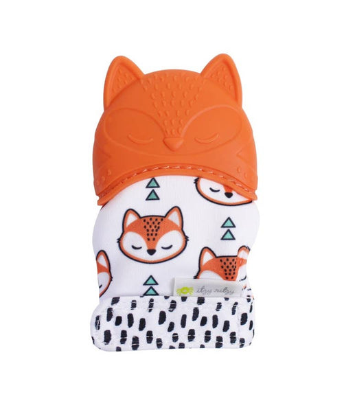 Teething Mitts in Fox by Itzy Ritzy