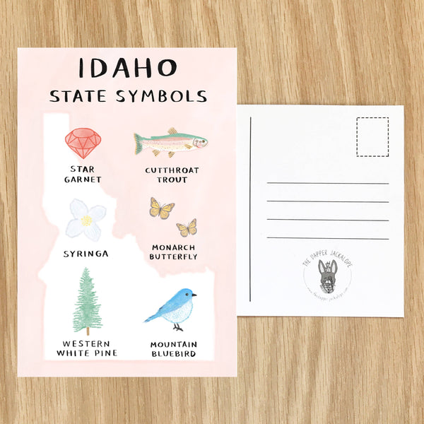 Postcard in Idaho State Symbols by The Dapper Jackalope