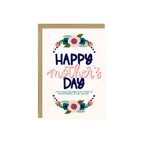 Proud of Me Mother's Day Card by Little Lovelies Studio