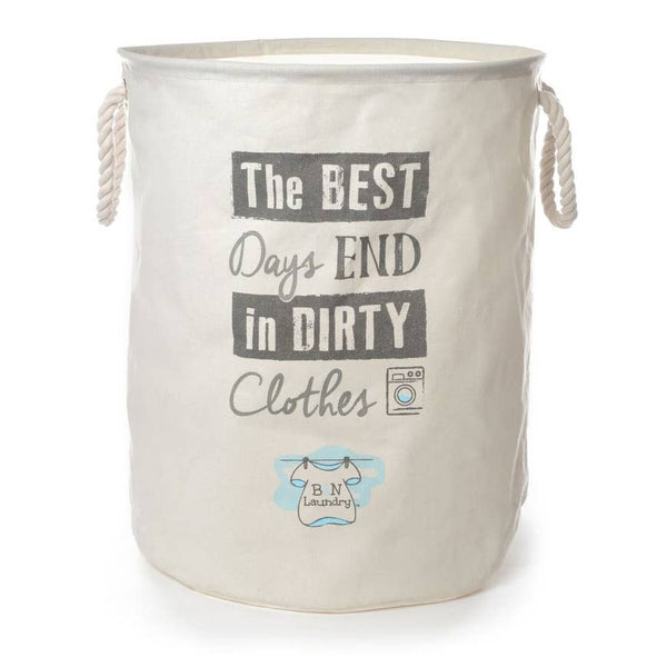 Canvas Laundry Bag in Best Day by Brooke & Nora at Home