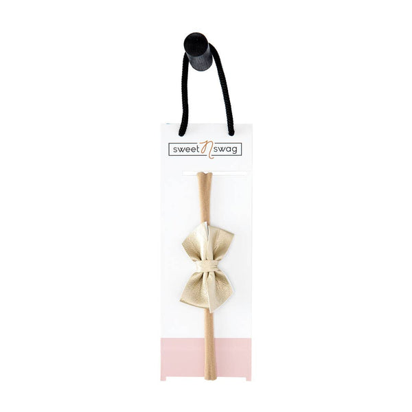 The Perfect Match Hair Bow in Karat by Sweet N Swag