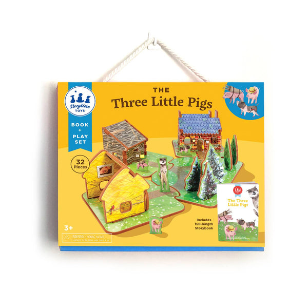 Book and Play Set in The Three Little Pigs by Storytime Toys