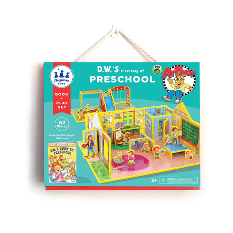Book and Play Set in DW's First Day of Preschool by Storytime Toys