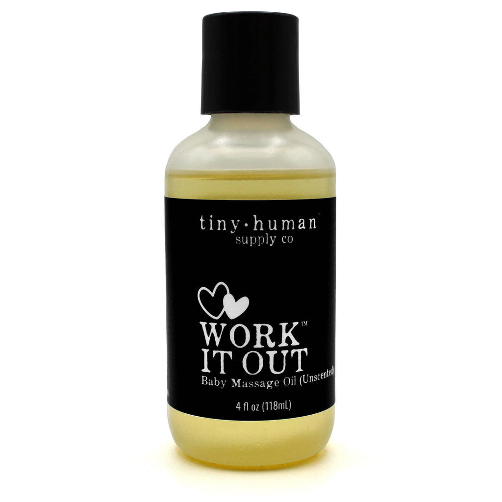 Work it Out Baby Massage Oil 4oz by Tiny Human Supply Co.