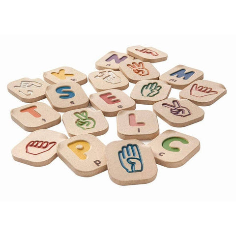 Hand Sign Alphabet A-Z by Plan Toys