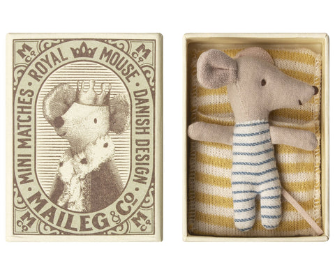 Sleepy Wakey Baby Boy Mouse in Box by Maileg