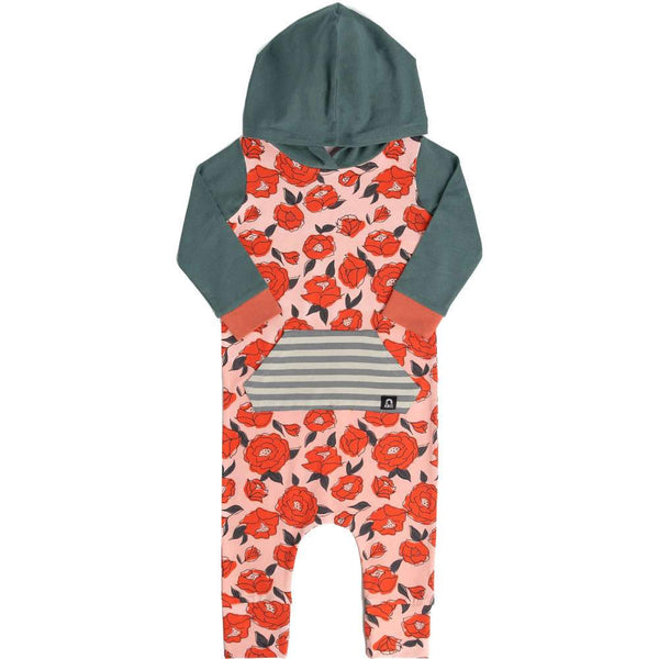 3/4 Sleeve Hooded Pocket Rag - Roses Are Red By RAGS