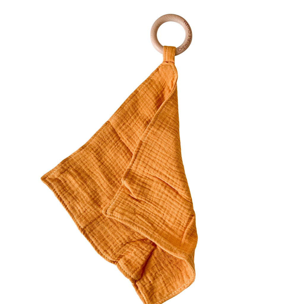 Muslin Teething Ring in Mustard by Chewable Charm
