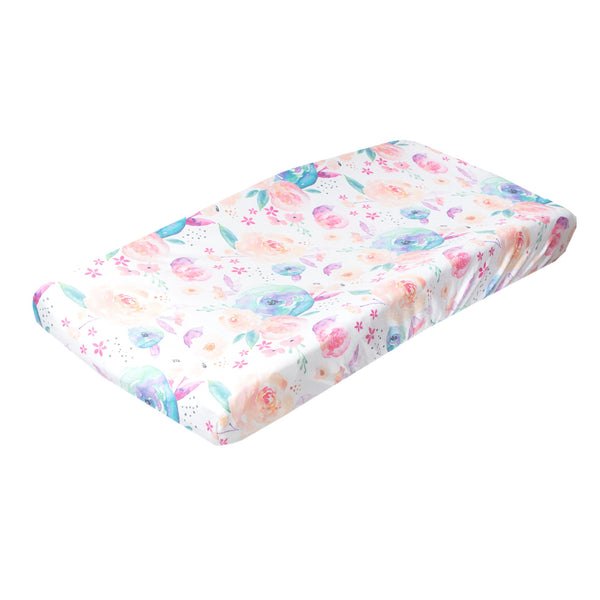Premium Diaper Changing Pad Cover in Bloom by Copper Pearl