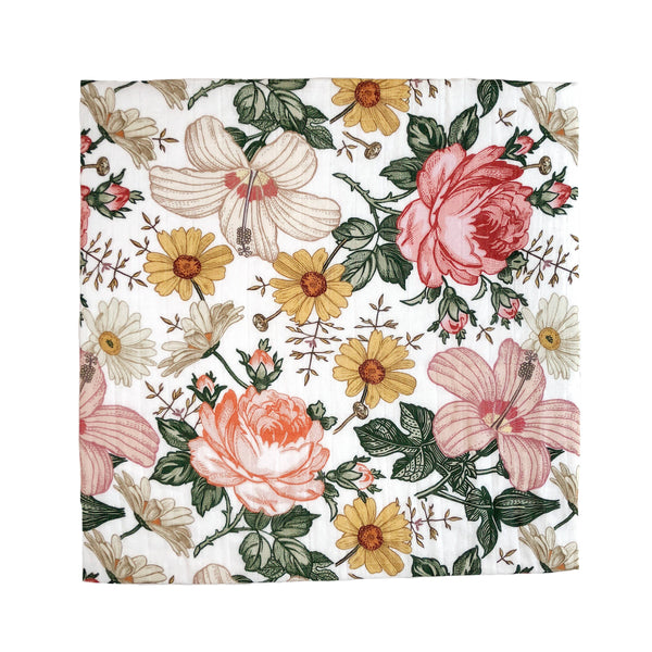 Swaddle in Garden Floral by The Mini Scout
