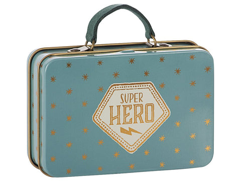 Metal Suitcase, Blue, Gold Stars by Maileg