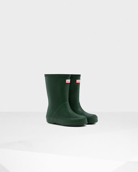 Hunter Boots | Original Kids First Classic Rain Boots in Hunter Green