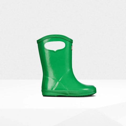 Original Kids First Classic Grab Handle Gloss Rain Boots in Element by Hunter Boots