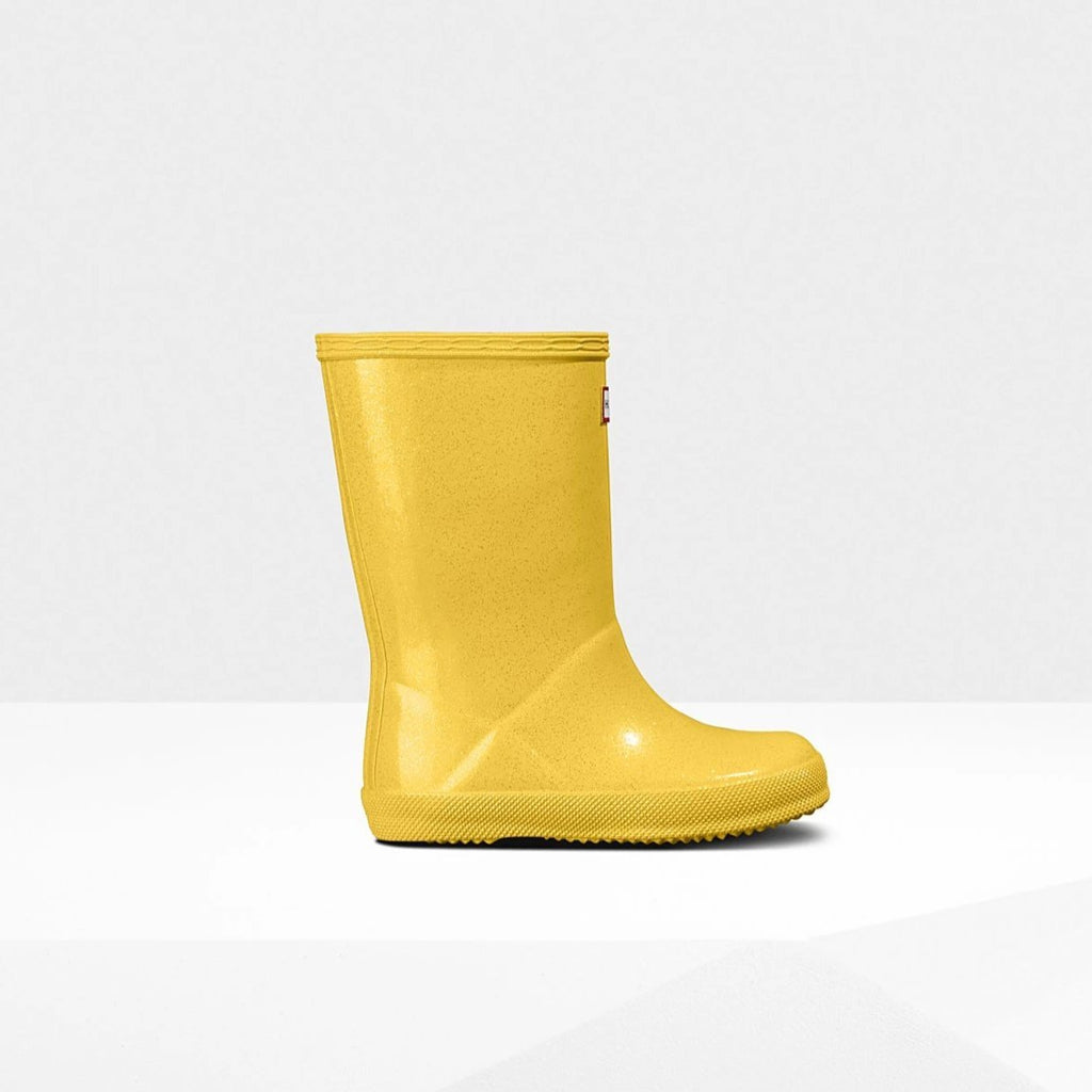 Original Kids First Classic Starcloud Rain Boots in Lightning Yellow by Hunter Boots