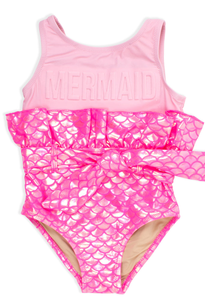 One Piece Mermaid Scale in Hot Pink by Shade Critters