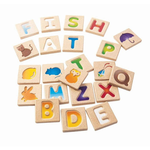 Alphabet A-Z in Gradient by Plan Toys