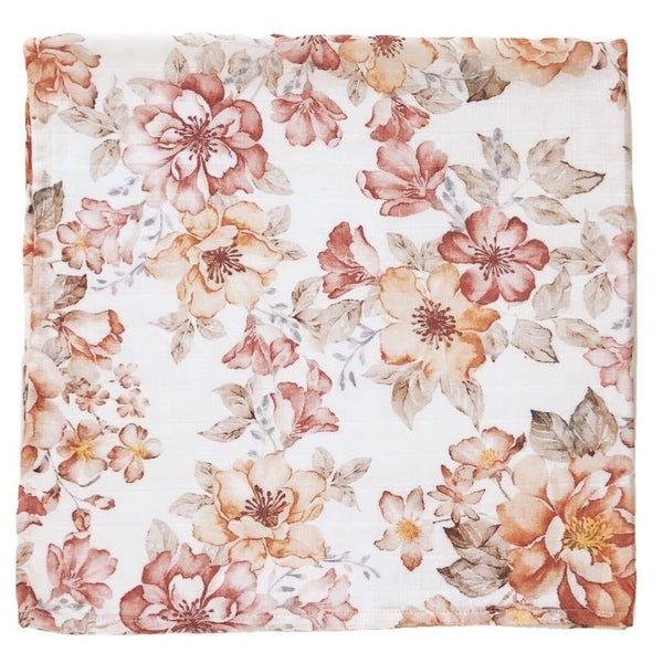 Swaddle in Sunset Floral by The Mini Scout