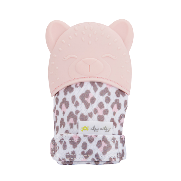 Itzy Mitt™ Silicone Teething Mitts in Leopard by Itzy Ritzy
