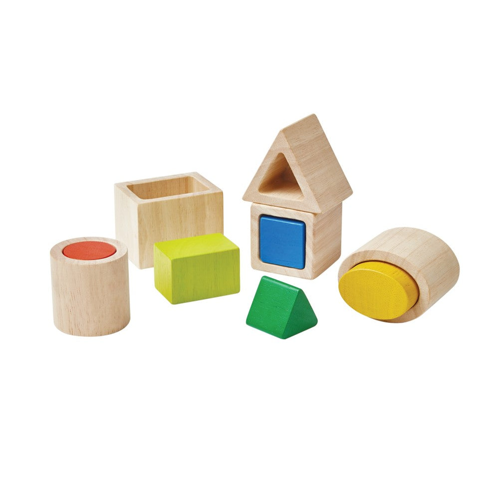 Geo Matching Blocks by Plan Toys