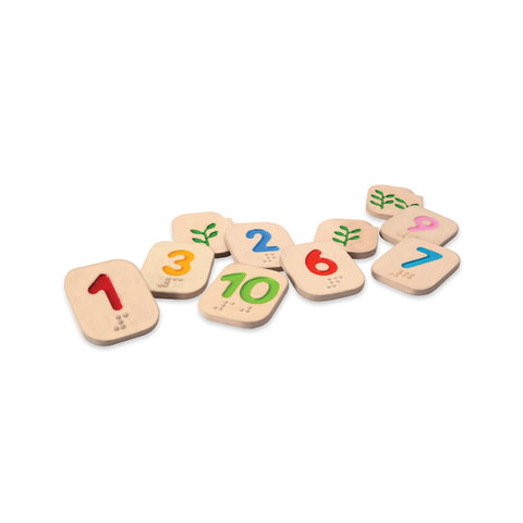 Braille Numbers 1 - 10 by Plan Toys