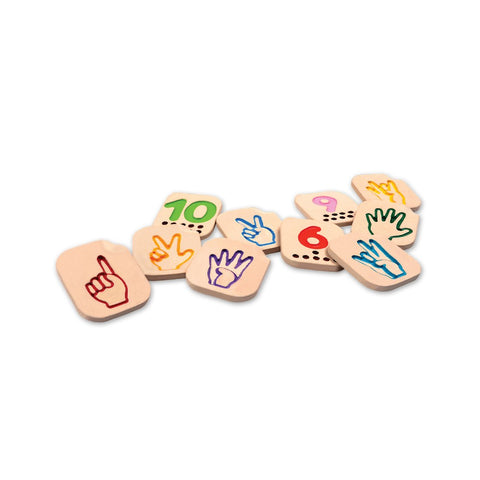 Hand Sign Numbers 1 - 10 by Plan Toys