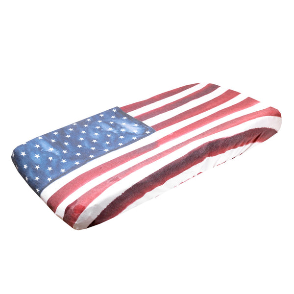 Premium Diaper Changing Pad Cover in Patriot by Copper Pearl