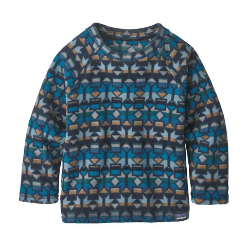 Baby Micro D® Fleece Crew in Cedar Mesa Balkan Blue by Patagonia