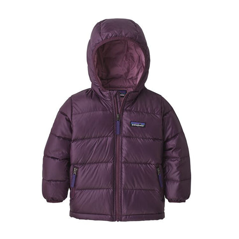 Baby Hi-Loft Down Sweater Hoody in Deep Plum by Patagonia
