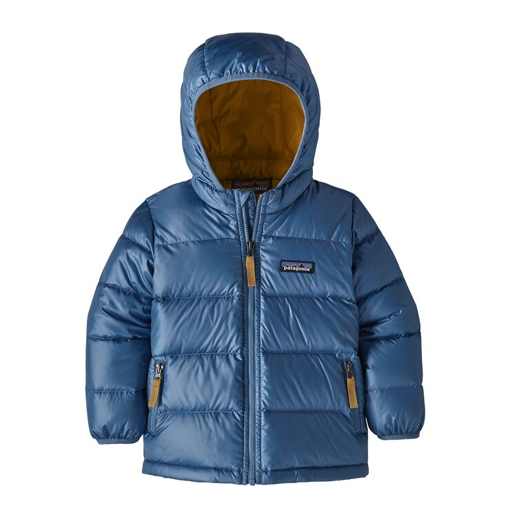 Baby Hi-Loft Down Sweater Hoody in Woolly Blue by Patagonia
