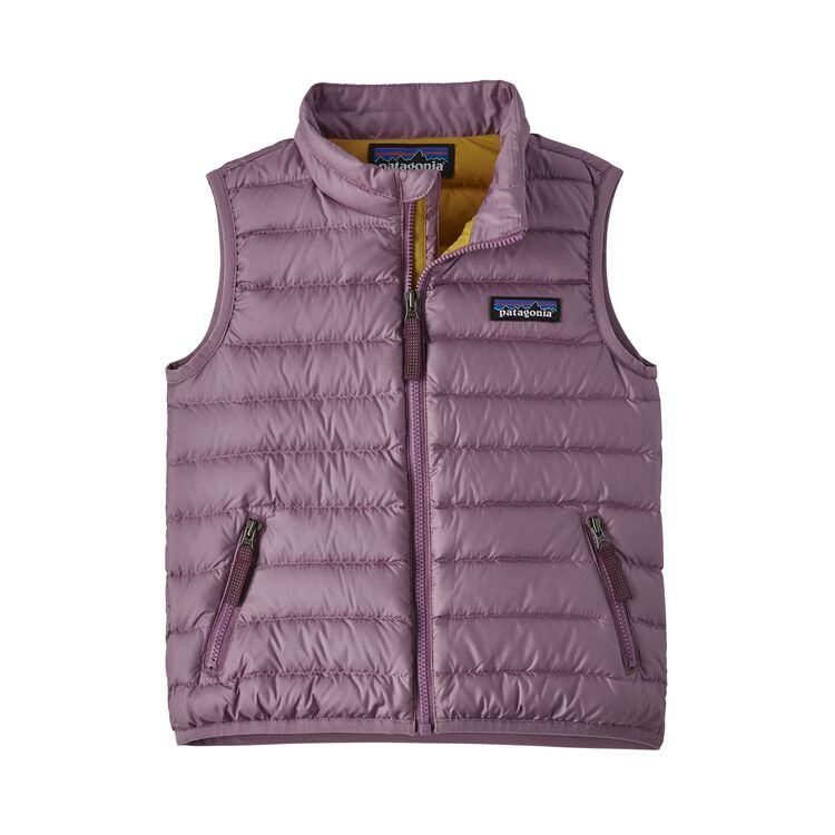 Baby Down Sweater Vest in Verbena Purple by Patagonia