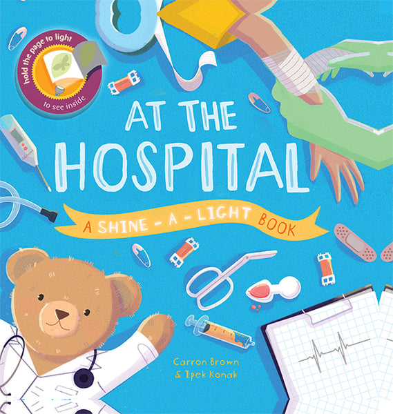 At the Hospital Shine-a-Light Book by Usborne