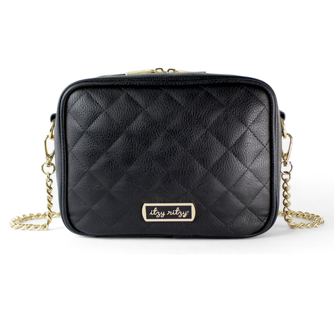 Crossbody Diaper Bag in Black by Itzy Ritzy