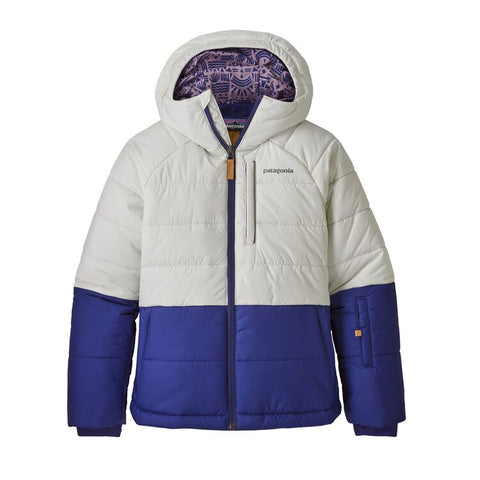 Girls' Pine Grove Jacket in Birch White with Cobalt Blue by Patagonia